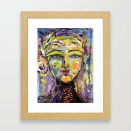 A Song on my mind Abstract Face Art Framed Art Print