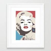 marylin monroe Framed Art Prints featuring Marylin Monroe by Creativehelper