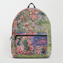 Monet, The House Among The Roses, 1917-1919 Backpack