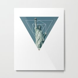 Statue of Liberty - Geometric Photography Metal Print