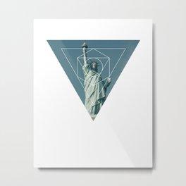 Statue of Liberty - Geometric Photography Metal Print