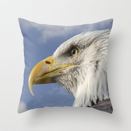 Bald Eagle square Throw Pillow