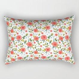 Pink Poppy Leggings Rectangular Pillow