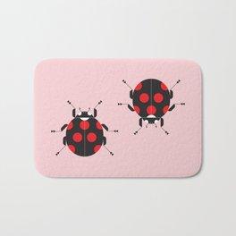 Ladybug Pink Bath Mat
