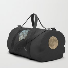 Owl, See the Moon (sq Barred Owl) Duffle Bag