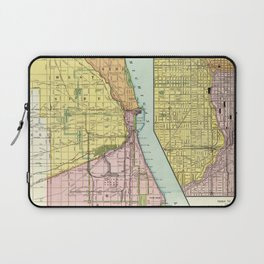 Vintage Chicago Railroad Map (1897) Laptop Sleeve