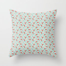Vintage Ditsy Pattern Throw Pillow
