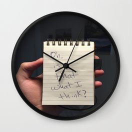 Oh Is That What I Think Wall Clock