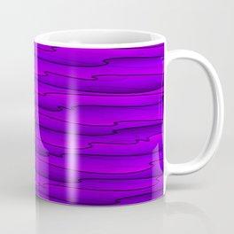 Horizontal bright violet lines on a dark tree. Coffee Mug