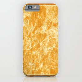 Mixed color Poinsettias 3 Outlined Orange iPhone Case
