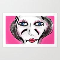 French Girl Art Print