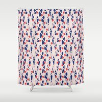zombies Shower Curtains featuring ZOMBIES by RUEI