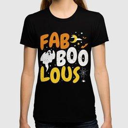 Halloween Ghost Fab BOO Lous T-shirt