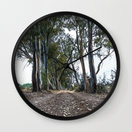 Dirt road in the countryside of southern Italy Wall Clock