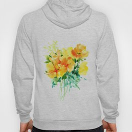 California Poppies, floral home decor Hoody