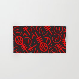 TØP Stickers - Red Hand & Bath Towel