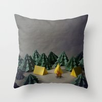 camp Throw Pillows featuring camp by Chelsea Gass