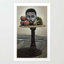 Still Life with Broccoli and Tomatoes Art Print
