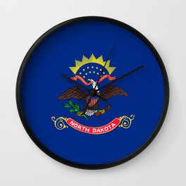 North Dakota State Flag Wall Clock