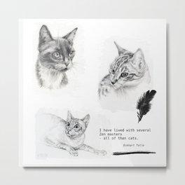 Cats & Zen Metal Print