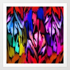 Feather Rainbow Art Print