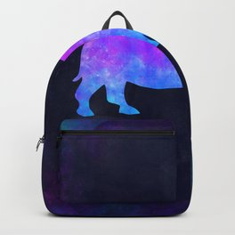 RHINO IN SPACE // Animal Graphic Art // Watercolor Canvas Painting // Modern Minimal Cute Backpack