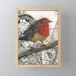 Just Be: Robin Red-Breast Framed Mini Art Print
