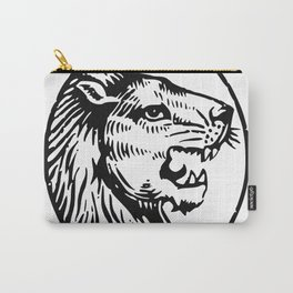 Lions Head Black Carry-All Pouch