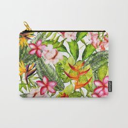 My Aloha Tropical Flower Hibiscus Garden on #Society6 Carry-All Pouch