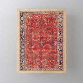 Sarouk Arak West Persian Carpet Print Framed Mini Art Print