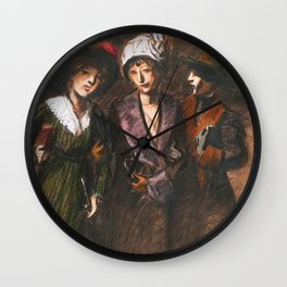 "Théophile Steinlen ""Three women"" Wall Clock"