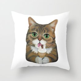 Lil Bub - famous cat Throw Pillow