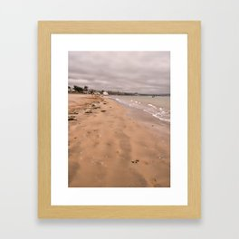 Beach walk on Instow Framed Art Print