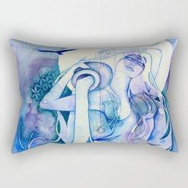 Goddess of Aquarius - An Air Elemental Rectangular Pillow