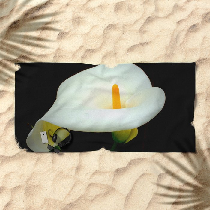 Calla Lily Beach Towel