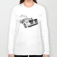 delorean Long Sleeve T-shirts featuring delorean by marzini