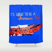 tennessee Shower Curtains featuring Tennessee Volunteers by megan matthews