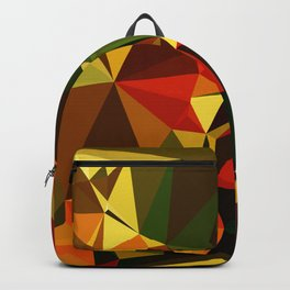 Trendy Abstract Garden Low Poly Geometric Art  Backpack
