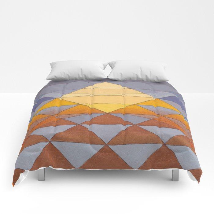 Pyramid Sun Mauve Purple Comforters