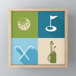 Golf Framed Mini Art Print