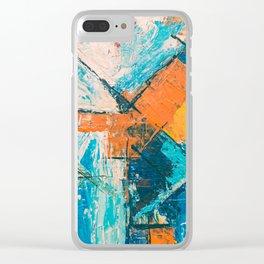 modern stile Clear iPhone Case