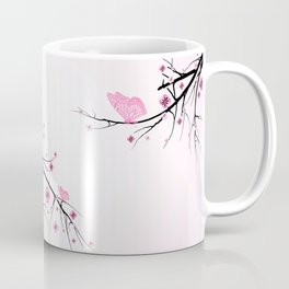 Pink Cherry Blossom Flowers Coffee Mug