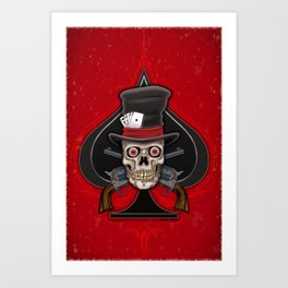 Dead Man's Hand Art Print