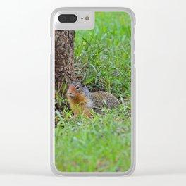Columbian ground squirrel in Jasper National Park Clear iPhone Case