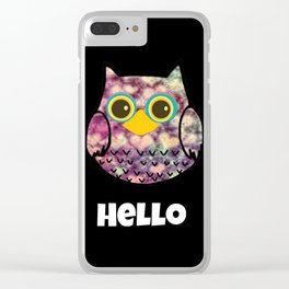 owl-129 Clear iPhone Case