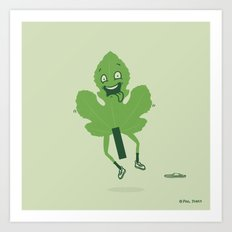 Flashing Fig Leaf Art Print