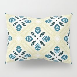 Ruth ink blue trinkets square pattern Pillow Sham