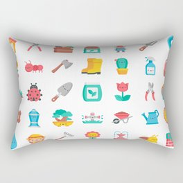 CUTE GARDENING PATTERN Rectangular Pillow
