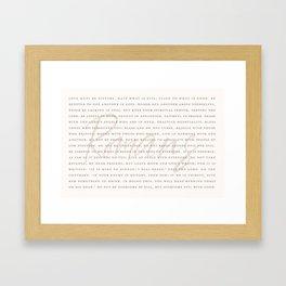 Love In Action Framed Art Print