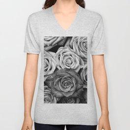 The Roses (Black and White) Unisex V-Neck
